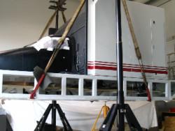 Flight Simulator being raised at Ottawa Airport